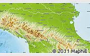 Physical Map of Emilia-Romagna