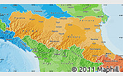 Political Shades Map of Emilia-Romagna