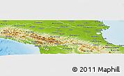 Physical Panoramic Map of Emilia-Romagna