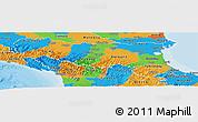 Political Panoramic Map of Emilia-Romagna
