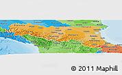Political Shades Panoramic Map of Emilia-Romagna
