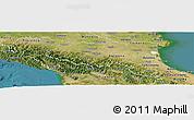 Satellite Panoramic Map of Emilia-Romagna