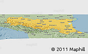 Savanna Style Panoramic Map of Emilia-Romagna