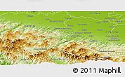 Physical Panoramic Map of Parma