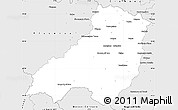 Silver Style Simple Map of Parma