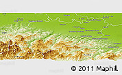 Physical Panoramic Map of Piacenza
