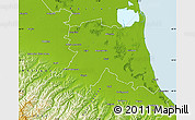 Physical Map of Ravenna