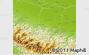 Physical 3D Map of Reggio nell Emilia