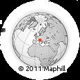 Outline Map of Reggio Nell Emilia