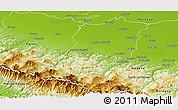 Physical Panoramic Map of Reggio nell Emilia