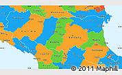 Political Simple Map of Emilia-Romagna