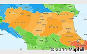 Political Shades Simple Map of Emilia-Romagna