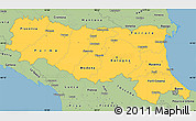 Savanna Style Simple Map of Emilia-Romagna