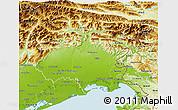 Physical 3D Map of Friuli-Venezia Giulia