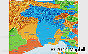 Political 3D Map of Friuli-Venezia Giulia