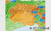 Political Shades 3D Map of Friuli-Venezia Giulia