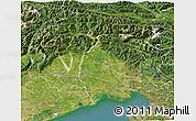Satellite 3D Map of Friuli-Venezia Giulia