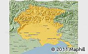 Savanna Style 3D Map of Friuli-Venezia Giulia