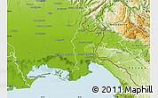 Physical Map of Gorizia