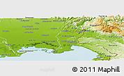 Physical Panoramic Map of Gorizia