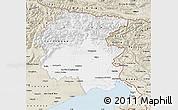 Classic Style Map of Friuli-Venezia Giulia