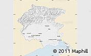 Classic Style Map of Friuli-Venezia Giulia, single color outside