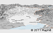 Gray Panoramic Map of Friuli-Venezia Giulia