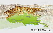 Physical Panoramic Map of Friuli-Venezia Giulia, lighten