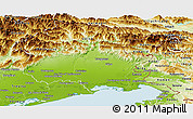 Physical Panoramic Map of Friuli-Venezia Giulia
