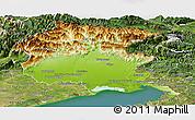 Physical Panoramic Map of Friuli-Venezia Giulia, satellite outside