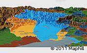 Political Panoramic Map of Friuli-Venezia Giulia, darken