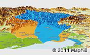 Political Panoramic Map of Friuli-Venezia Giulia, physical outside