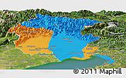 Political Panoramic Map of Friuli-Venezia Giulia, satellite outside