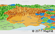 Political Shades Panoramic Map of Friuli-Venezia Giulia