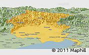 Savanna Style Panoramic Map of Friuli-Venezia Giulia