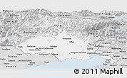 Silver Style Panoramic Map of Friuli-Venezia Giulia