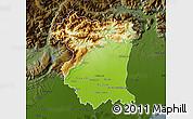 Physical Map of Pordenone, darken