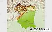 Physical Map of Pordenone, lighten