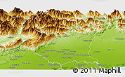 Physical Panoramic Map of Pordenone