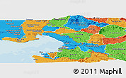 Political Panoramic Map of Trieste