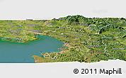 Satellite Panoramic Map of Trieste