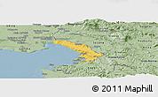 Savanna Style Panoramic Map of Trieste