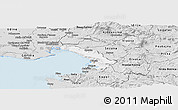 Silver Style Panoramic Map of Trieste