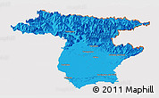 Political Panoramic Map of Udine, cropped outside