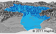 Political Panoramic Map of Udine, desaturated