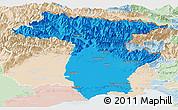 Political Panoramic Map of Udine, lighten