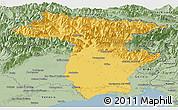 Savanna Style Panoramic Map of Udine