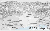 Silver Style Panoramic Map of Udine