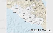 Classic Style 3D Map of Lazio