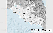 Gray 3D Map of Lazio
